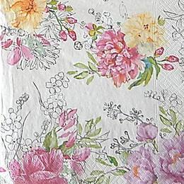 12642. Розовые цветы