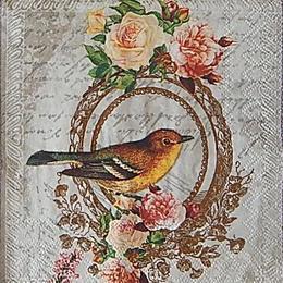 12659. Птица на письменах. 20 шт., 14 руб/шт