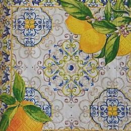12671. Лимоны и узор. 20 шт., 18 руб/шт