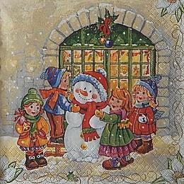 12679. Дети и снеговик