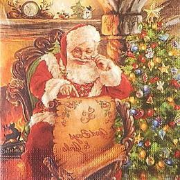 12682. Санта у камина. 5 шт., 17 руб/шт