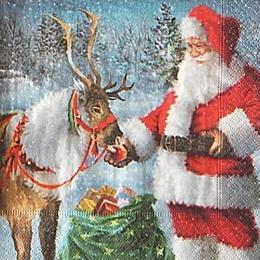 12683. Санта Клаус и олень. 10 шт., 14 руб/шт