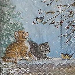 12700. Котята с синицами