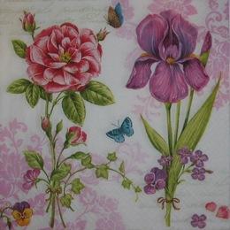 12742.  Два цветка. 5 шт., 23 руб/шт