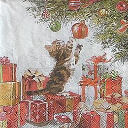 12752. Котенок у елки. 5 шт., 20 руб/шт