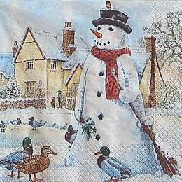 12759. Снеговик у пруда