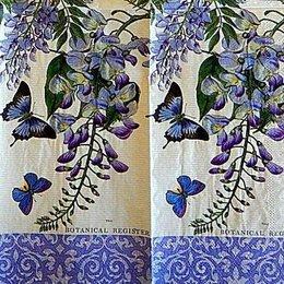 12761. Бабочки с цветами