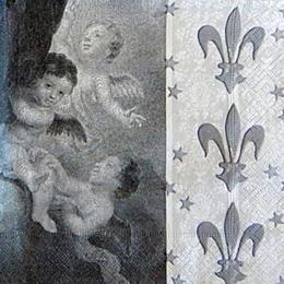 12766. Ангелы с французской лилией. 10 шт., 14 руб/шт
