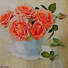 12779. Розы в плошке. 5 шт., 20 руб/шт
