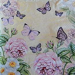 12782. Розы с бабочками. 5 шт., 20 руб/шт