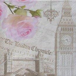 12852. Роза и Лондон. 15 шт., 15 руб/шт