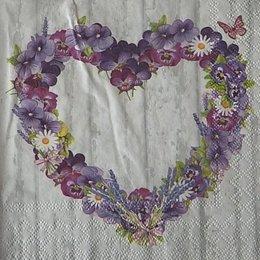 12881. Сердце из цветов. 5 шт., 17 руб/шт