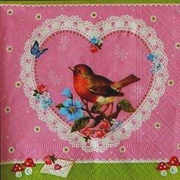12930. Птичка в сердце. 5 шт., 16 руб/шт