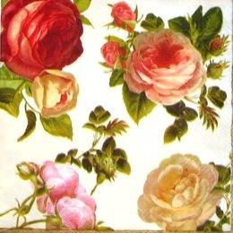 1296. Винтажные розы., 5 шт. 17 руб/шт