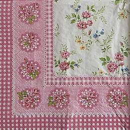 12963. Цветочки на розовом бордюре