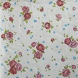 12967. Розы на белом. 15 шт., 16  руб/шт
