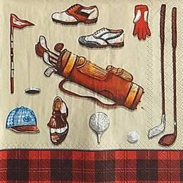 12981. Все для гольфа на красном. 5  шт., 14  руб/шт