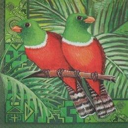 1866. Попугаи в джунглях. 20 шт, 7 руб/шт