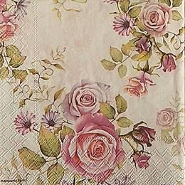 20011. Розовые букеты на белом