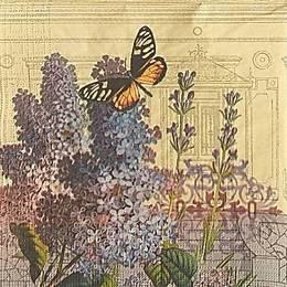 20015. Сирень и бабочка