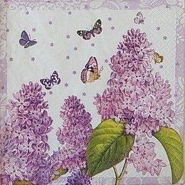 20055. Сирень и бабочки. 15 шт., 20 руб/шт