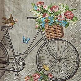 20070. Бабочки и велосипед. 5 шт., 17 руб/шт