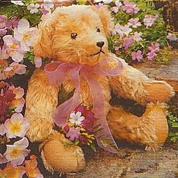 20078. Мишка в цветочках