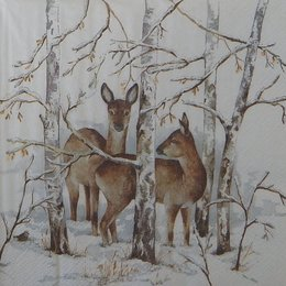20099. Косули в лесу. 5 шт., 24 руб/шт