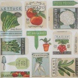 20222. Коллаж из овощей. 5 шт., 20 руб/шт