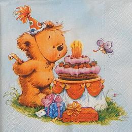 24056. Мишка с тортом