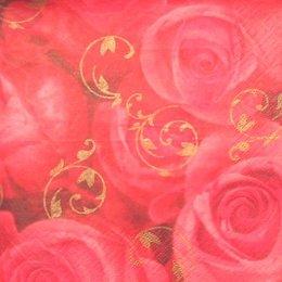 2515. Алые розы. 5 шт., 10 руб/шт