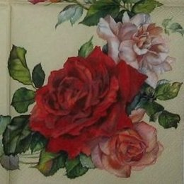 3151. Гирлянда роза на светло-бежевом. 5 шт., 26 руб/шт