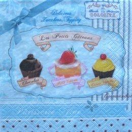 3203. Пирожные на голубом. 15 шт., 16 руб/шт