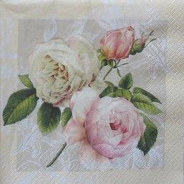 3422. Розы на бежевом. 10 шт., 22 руб/шт