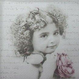 3494. Малышка с розой. 5 штук., 23 руб/шт