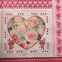 4195. Розовое сердце. 10 штук., 7 руб/шт