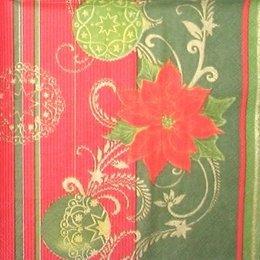 4309. Пуассентия на красном и зеленом. 5 шт., 10 руб/шт