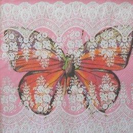 4460. Бабочка в кружеве. 5 шт., 12 руб/шт