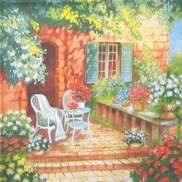 12913. Кресло в саду