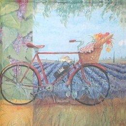 4507. Велосипед на лавандовом поле