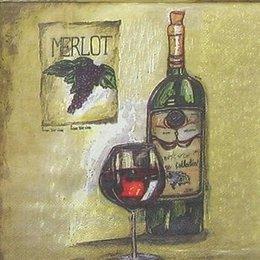 4601. Вино на бежевом