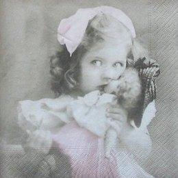 4697. Девочка с куклой. 5 шт., 33 руб/шт