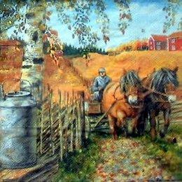4771. Лошади в поле