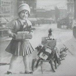 4814. Девочка с подарками. 5 штук., 33 руб/шт