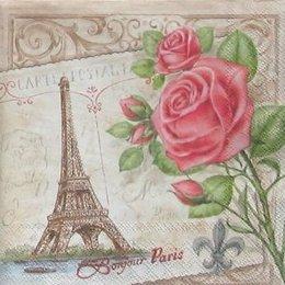4850. Роза на бежевом париже.