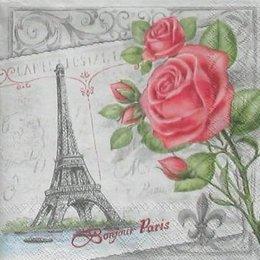 4851. Роза на сером Париже