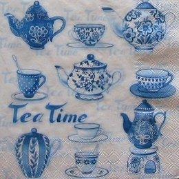 4960.  Голубые чайнички. 5 шт., 20 руб/шт