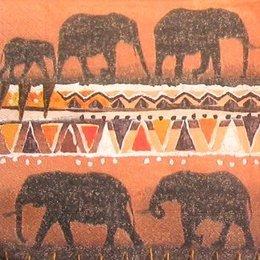 4991. Шествие слонов. 5 шт., 17 руб/шт