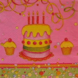 629. Торт на розовом. 10 шт
