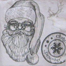 8130. Дед Мороз монохром. 5 шт., 10 руб/шт